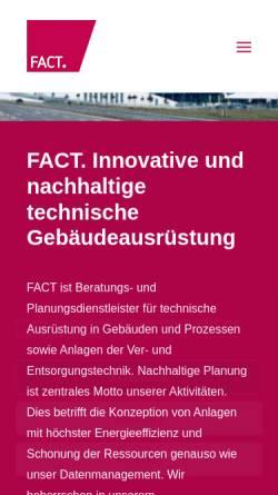 Vorschau der mobilen Webseite www.fact-gmbh.com, Fact GmbH