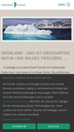 Vorschau der mobilen Webseite www.groenland-travel.de, Grönland Reisen