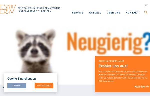 Vorschau von djv-thueringen.de, Deutscher Journalistenverband Landesverband Thüringen