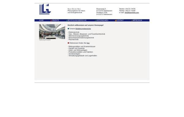 Vorschau von www.buerohein.com, Hans-Georg Hein Planungsbüro für Haus- und Energietechnik