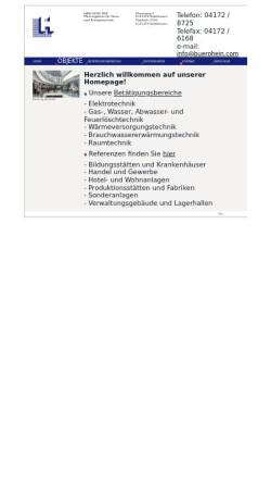 Vorschau der mobilen Webseite www.buerohein.com, Hans-Georg Hein Planungsbüro für Haus- und Energietechnik