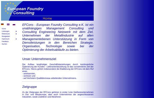 Vorschau von www.efcons.eu, EFCons European Foundry Consulting e.K.