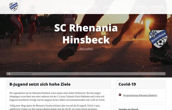 Vorschau von www.rhenaniahinsbeck.de, SC Rhenania Hinsbeck