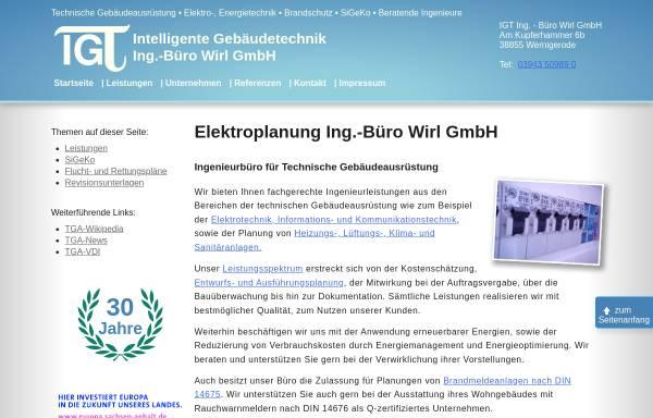 Vorschau von www.igt-wirl.de, IGT Gebäudetechnik, Edgar Wirl