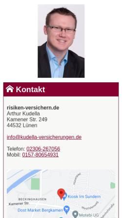 Vorschau der mobilen Webseite www.dortmund.versicherung, Arthur Kudella - Ihr Versicherungsmakler in Lünen