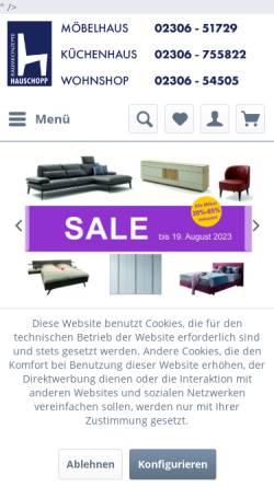 Vorschau der mobilen Webseite www.hauschopp.de, Hauschopp Raumkonzepte, Inhaber Bodo Hauschopp