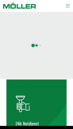 Vorschau der mobilen Webseite www.moeller-kanalreinigung.de, Möller Kanalreinigung