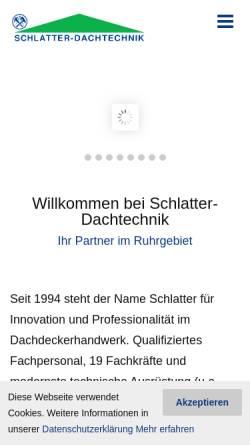 Vorschau der mobilen Webseite www.schlatter-dach.de, Schlatter GmbH Dachtechnik