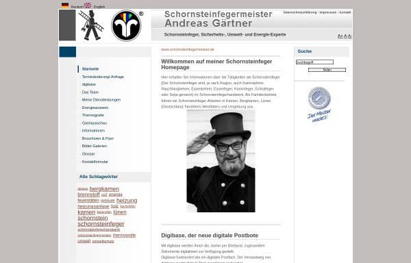Vorschau von www.schornsteinfegermeister.de, Schornsteinfeger Andreas Gärtner