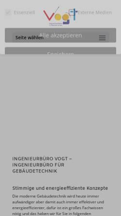 Vorschau der mobilen Webseite www.der-vogt.de, Ingenieurbüro M. Vogt GmbH