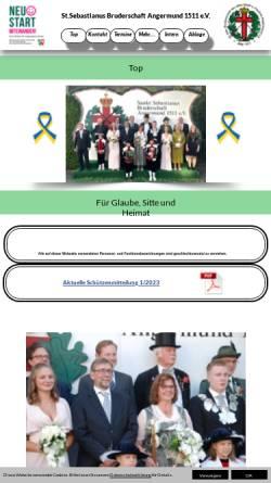 Vorschau der mobilen Webseite www.bruderschaft-angermund.de, St. Sebastianus Bruderschaft Angermund 1511 e.V.
