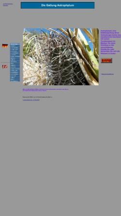 Vorschau der mobilen Webseite www.astrophytum.de, Astrophytum
