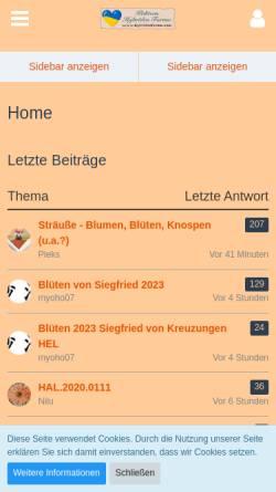 Vorschau der mobilen Webseite www.hybridenforum.com, Kakteen Hybridenforum