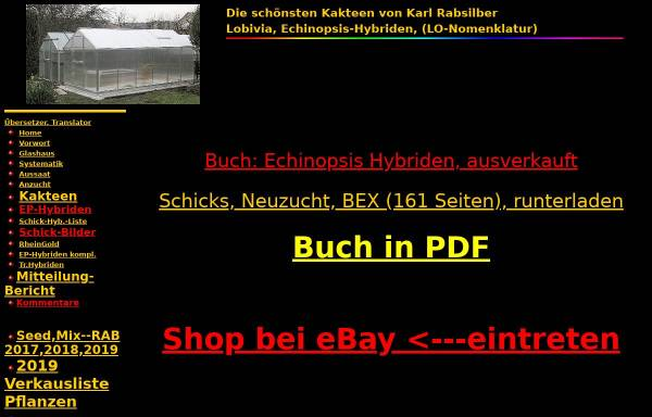 Vorschau von www.karl-rabsilber.de, Lobivia und Echinopsis-Hybriden