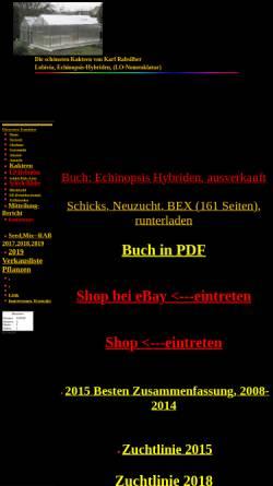 Vorschau der mobilen Webseite www.karl-rabsilber.de, Lobivia und Echinopsis-Hybriden