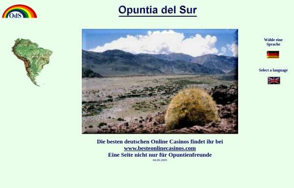 Vorschau von www.opuntiadelsur.de, Opuntia del Sur