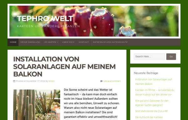 Vorschau von www.tephrowelt.de, Opuntien