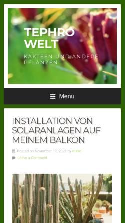 Vorschau der mobilen Webseite www.tephrowelt.de, Opuntien