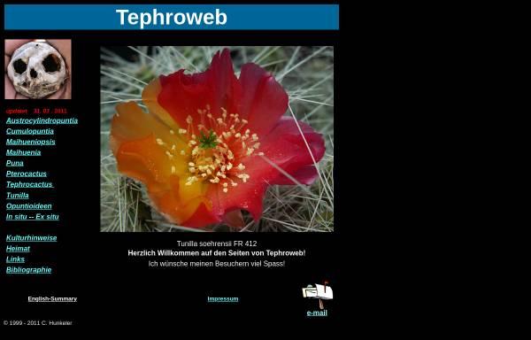 Vorschau von tephroweb.ch, Tephroweb