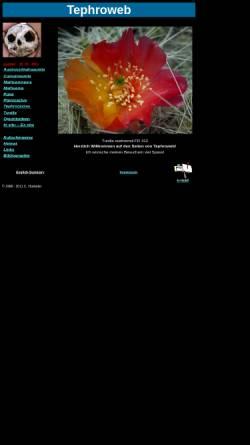Vorschau der mobilen Webseite tephroweb.ch, Tephroweb