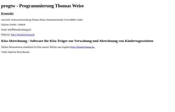 Vorschau von www.progtw.de, Thomas Weise