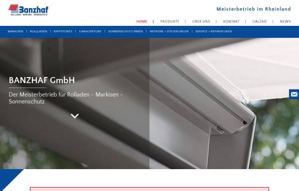 Vorschau von www.banzhaf-rolladen.de, Banzhaf GmbH