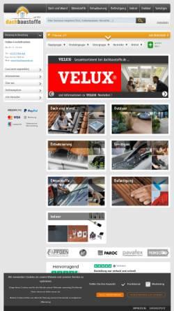 Vorschau der mobilen Webseite www.dachbaustoffe.de, Päffgen GmbH - Udo Päffgen