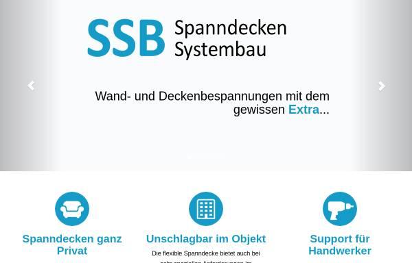 Vorschau von www.spanndecken.de, SSB Spanndecken System Bau GmbH