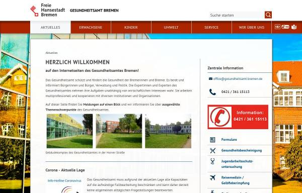 Gesundheitsamt Bremen: Verwaltung, Stadt Bremen gesundheitsamt.bremen.de