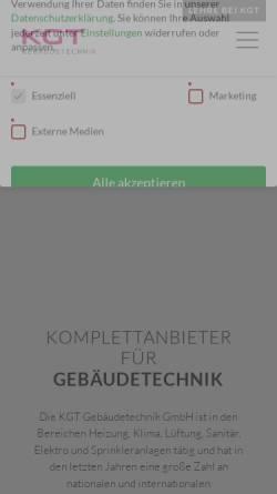 Vorschau der mobilen Webseite kgt.krobath.com, Krobath Gebäudetechnik und Service GmbH & Co KG