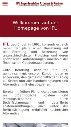 Vorschau der mobilen Webseite www.ifl-tga.de, Lucas, Frank & Partner