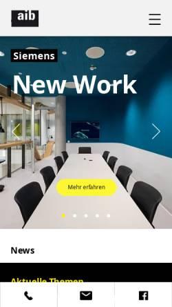 Vorschau der mobilen Webseite www.aibonline.de, Agiplan Integrale Bauplanung