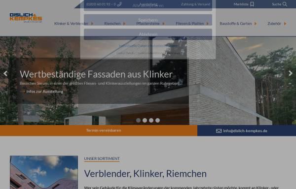 Vorschau von www.dislich-kempkes.de, Dislich & Kempkes Baustoffcenter Duisburg
