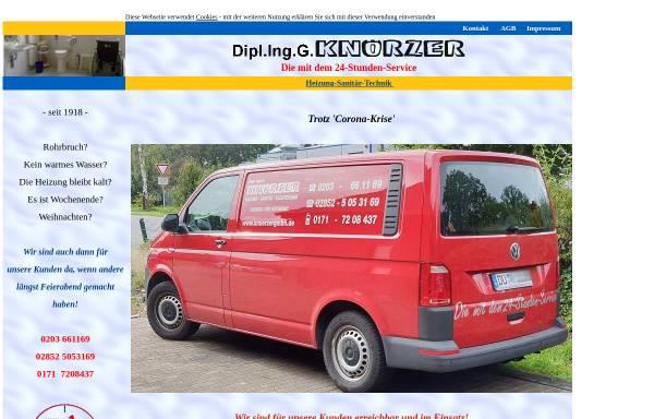 Vorschau von www.knoerzergmbh.de, Dipl. Ing. G. Knörzer - Heizung-Sanitär-Haustechnik e. K.