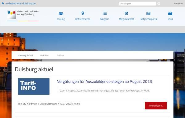 Vorschau von www.malerbetriebe-duisburg.de, Malerbetriebe Duisburg