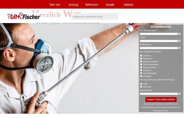 Vorschau von www.mt-fischer.de, Malerteam Fischer, Inhaber T. Fischer