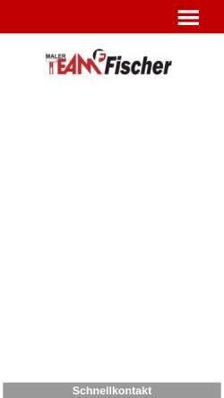 Vorschau der mobilen Webseite www.mt-fischer.de, Malerteam Fischer, Inhaber T. Fischer
