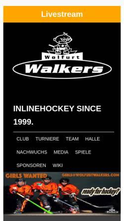 Vorschau der mobilen Webseite www.wolfurtwalkers.com, IHC Wolfurt Walkers