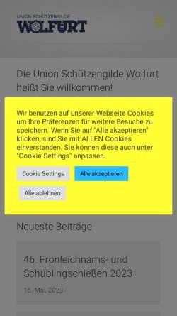 Vorschau der mobilen Webseite www.usg-wolfurt.at, Union Schützengilde Wolfurt