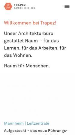 Vorschau der mobilen Webseite www.trapez-architektur.de, Landwehr, Dirk