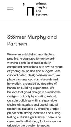 Vorschau der mobilen Webseite www.stoermer-partner.de, Störmer Partner GbR