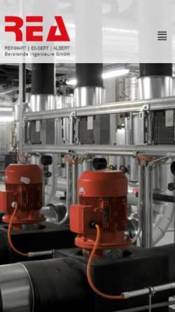 Vorschau der mobilen Webseite www.rea-ingenieure.de, REA Reinhart Engert Albert, Beratende Ingenieure GmbH