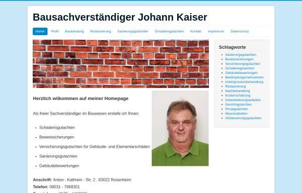 Vorschau von www.bausachverstaendiger-kaiser.de, Bausachverständiger
