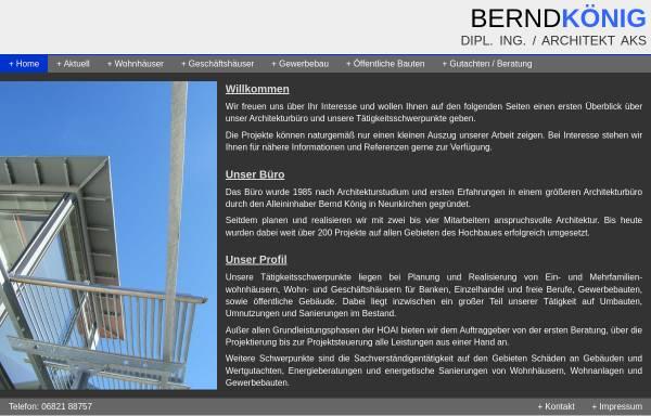 Vorschau von www.architekt-bernd-koenig.de, König, Bernd
