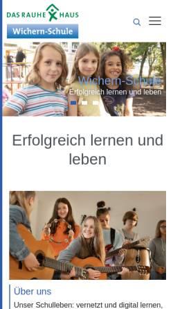 Vorschau der mobilen Webseite www.wichern-schule.de, Wichern-Schule