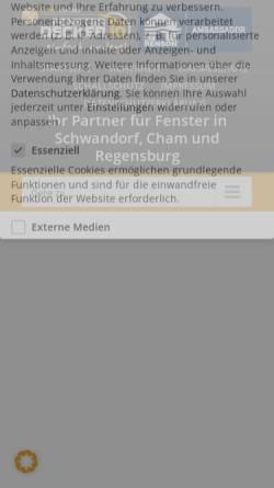 Vorschau der mobilen Webseite fenster-decker.de, Thomas Decker Fenster und Türen