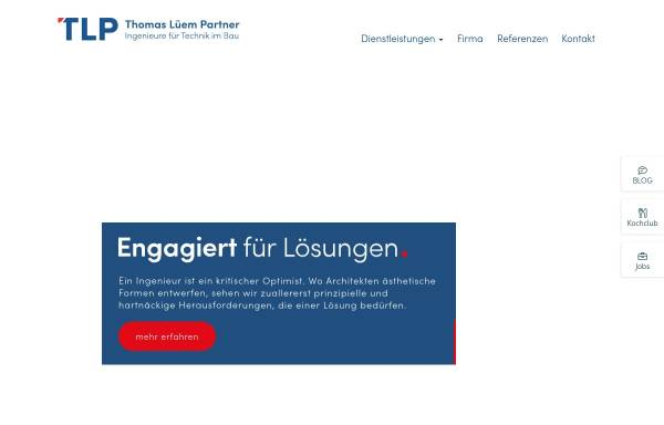 Vorschau von www.tlp.ch, Thomas Lüem & Partner AG