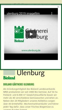Vorschau der mobilen Webseite www.gaertnerei-ulenburg.de, Bioland Gärtnerei Ulenburg