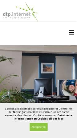 Vorschau der mobilen Webseite www.dtp-internet.de, DTP-INTERNET