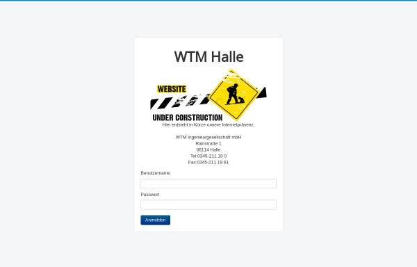 Vorschau von www.wtm-halle.de, WTM, Weiler-Thomas-Michael Ingenieurgesellschaft mbH